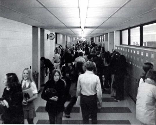 Walking down the hallways in high school on average how many of the students you pass would you say you know?