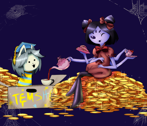 RP time you and Temmie get invited to a tea party at Muffet's what do you do there? Temmie: Eat Temmie Flakes