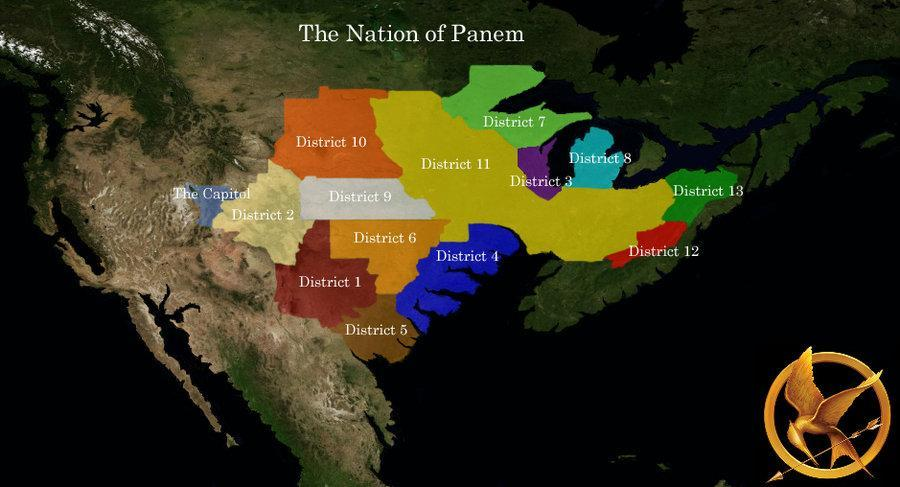 How many district's are in Panem?