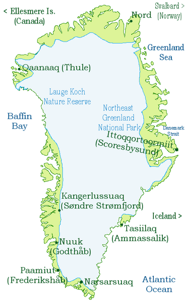 What continent does Greenland belong to?