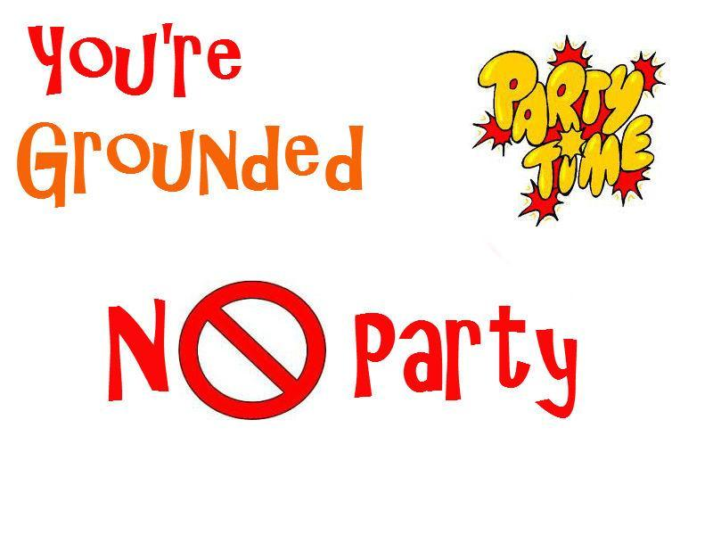 You are invited to a party when you're grounded. What do you do?
