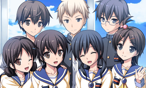 Towards the end of the game, which of the main nine characters are still alive upon returning to Kisaragi Academy?