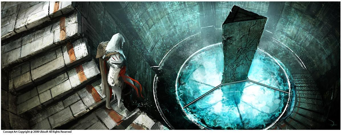 Who speaks to Ezio when he enters the Vault below the Vatican?