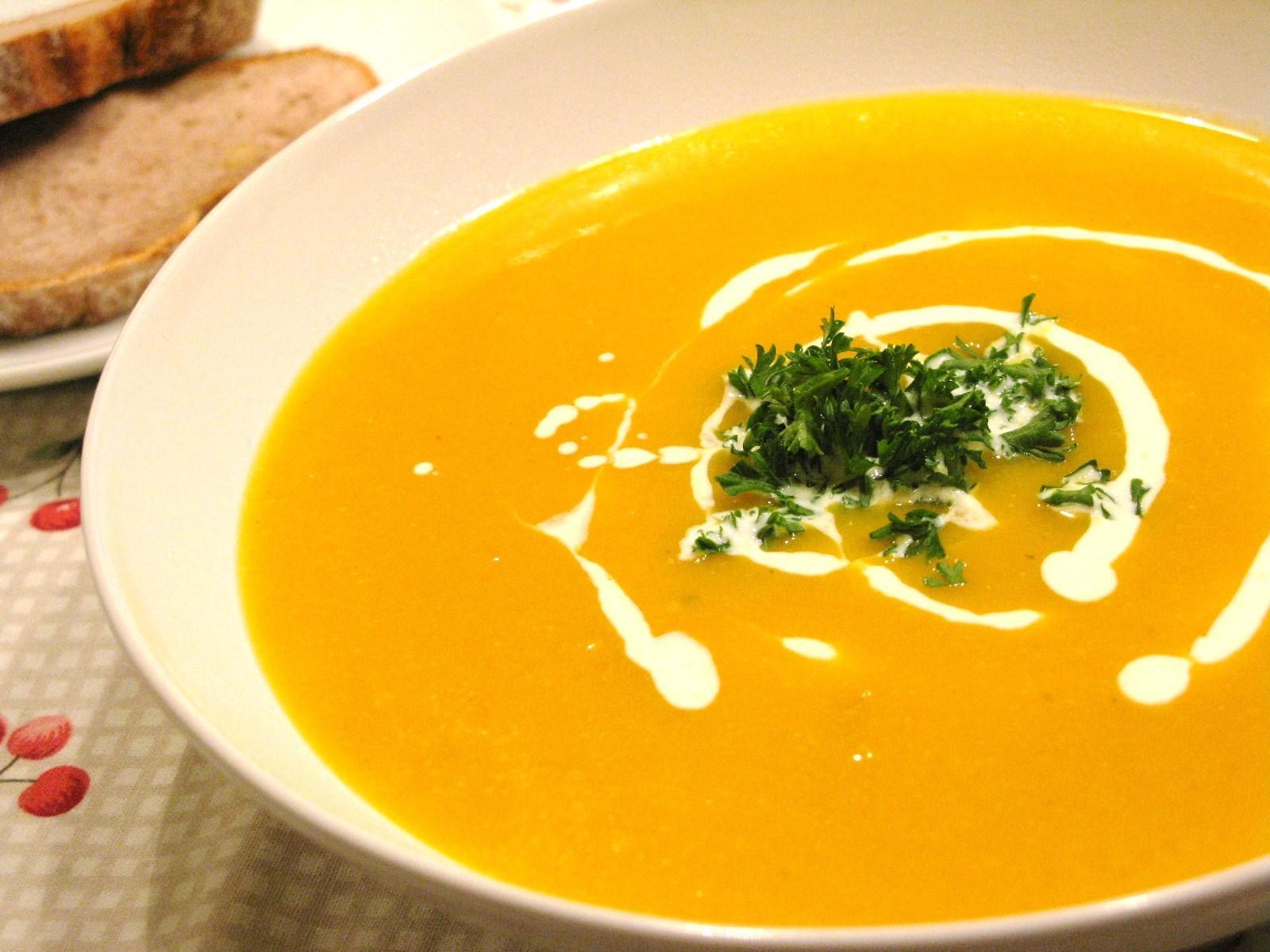 How would you eat soup at a dinner party?