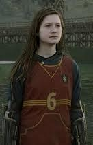 Which position did Ginny Weasley play when she entered the Gyffindor Quidditch team in Harry Potter and the Half Blood Prince?