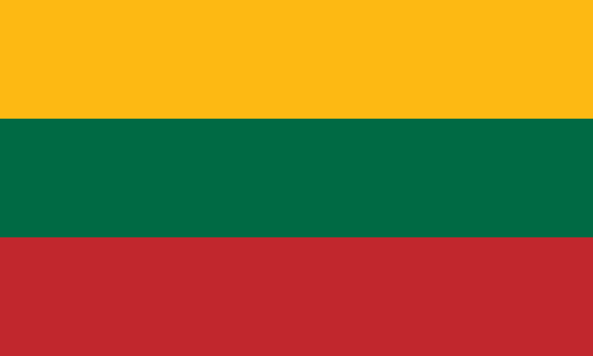 What are Lithuania flag colours?