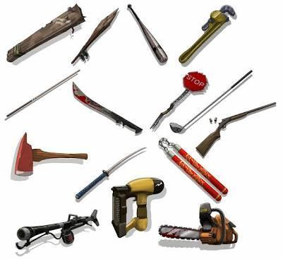 just before you leave your house, you remember 'weapons'. what is the one weapon youtake?