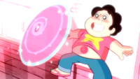 Steven has used his shape-shifting powers.