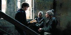 What is the order of the names on the map Fred and George give Harry?