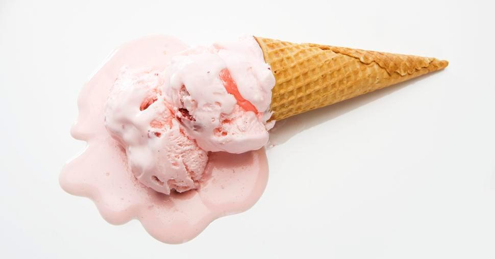 What's the best ice-cream eating strategy for when it's dripping all over the place?