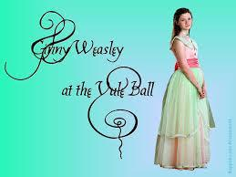 Who does Ginny go to the Yule Ball with?