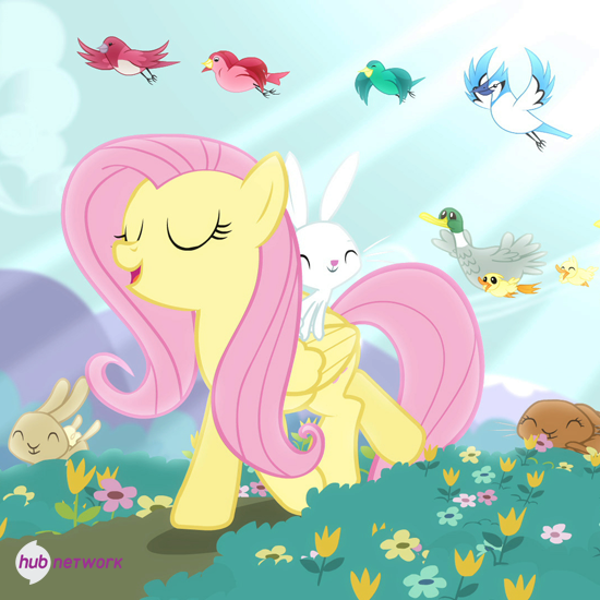 Ok so since you have been introduced to each other now it's time for the questions. Why don't you go first Fluttershy? Fluttershy: O...ok... Do you love animals?
