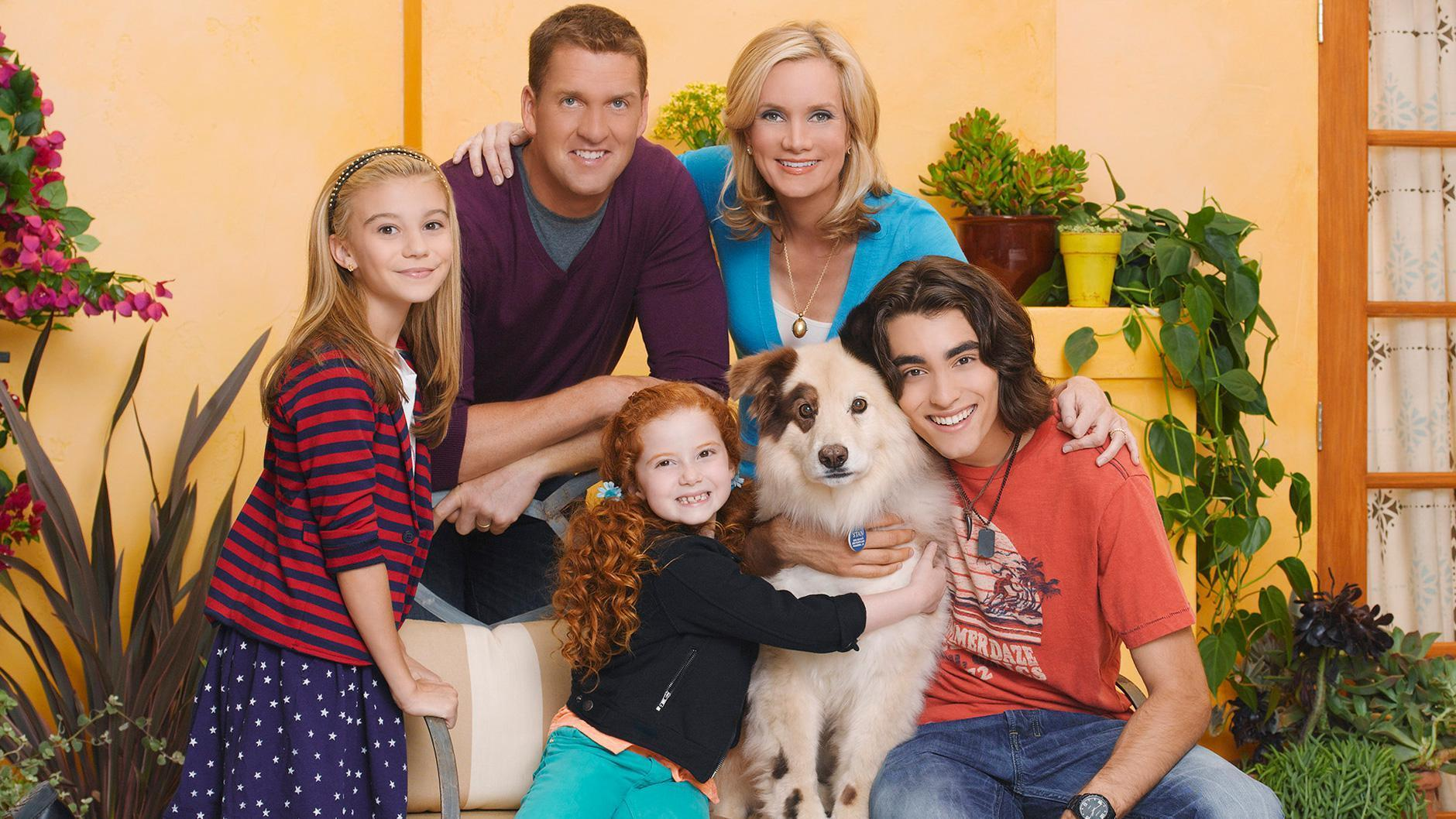 What is the name of the show that these people and dog are from?