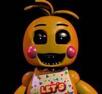 Why does Toy Chica's beak come off when she leaves the backstage?