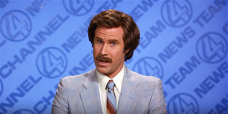 In the Anchorman series, Will Ferrell plays a character named...