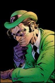 Riddle me this!This villain is well known for question marks and riddles.He is determined to prove he is intellectually superior to Batman.
