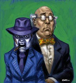 This one is a bit tough.This villain has multiple personalities and one of them is his puppet.Who are they?
