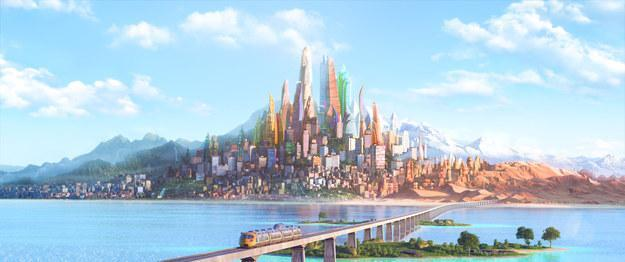 Which district in Zootopia is not featured in the actual film?