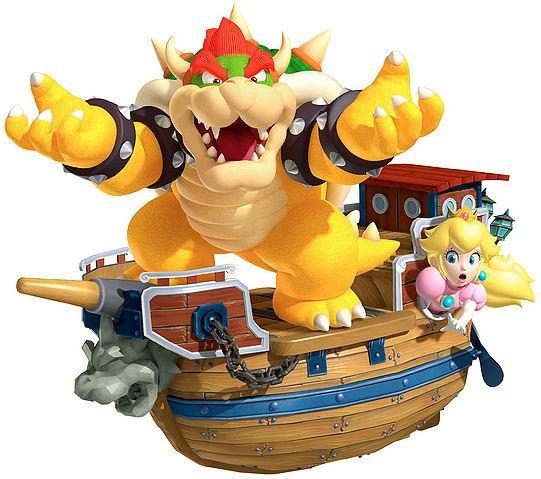 You see Bowser capturing Princess Peach! What do you do?