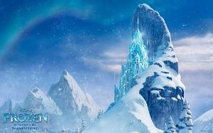 Where can Queen Elsa's ice castle be found in the sky? Medium. No period.