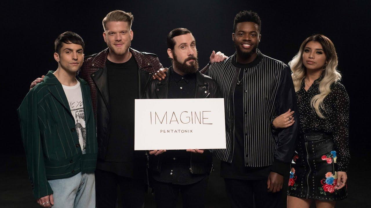 "How many times do they sing ""imagine"" in their Imagine cover?"