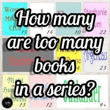 around how many books do you like to read in a series?