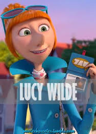 what does lucy use to get gru to come with her to the avl?