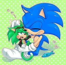 "In the doorway stands a blue hedgehog, staring at you with his green emerald eyes. ""Yes?"" He asks, smiling. ""Oh..um..I was wondering if you would let me in? I-I'm lost and it's kinda cold.. out here.."" You say, not making eye contact."