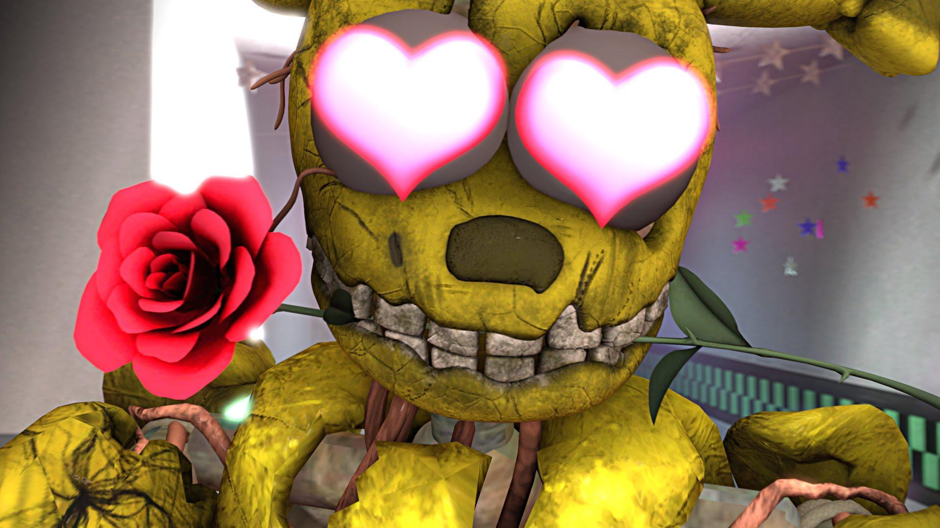 At the sfm Sample Story. FnaF world Mangle make Toy Chica in love with??