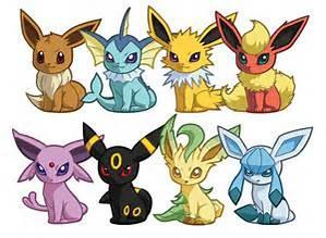 What are the 7 Eevee evoloutions?