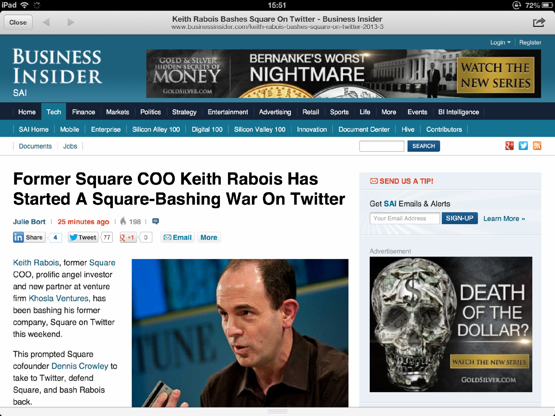 An online article on Business Insider?