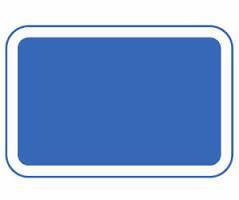 what is a blue rectangle sign used for?