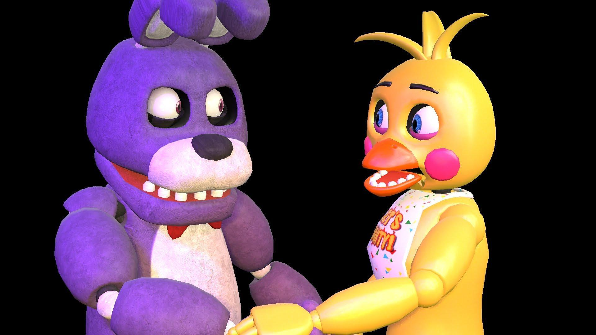 In the sfm Bonnie x Toy Chica. Who was boring?