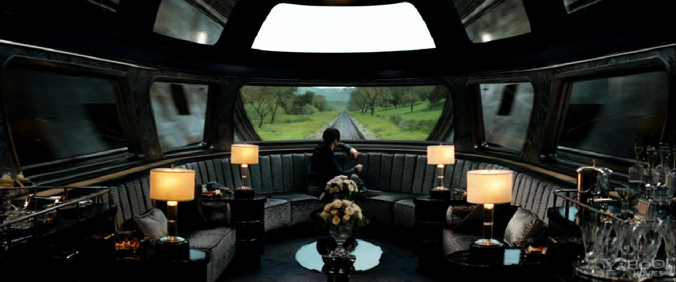 How many mph does the train that takes Katniss to the Capitol go?