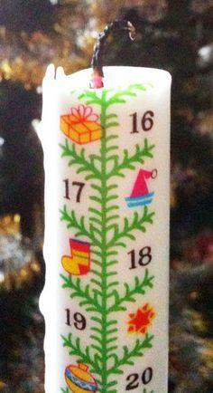 Calender Candle: Thin candles are often seen in stores as a separate calender to count down to Christmas. How many days are marked on these candles?