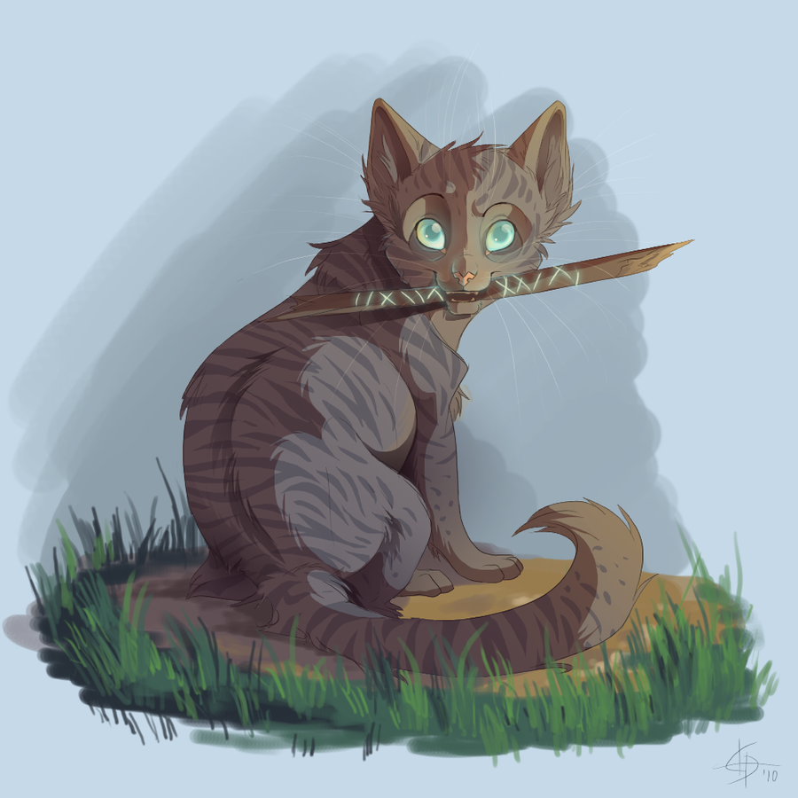 How did Jayfeather find his stick?