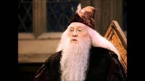 Who played Albus Dumbledore in the first two Harry Potter films?