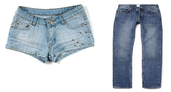 would you rather stylish short  shorts or comfortable jeans?