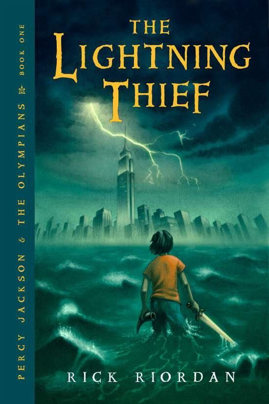 In The Lightning Thief, what did Grover say to try convince the man that he, Percy, and Annabeth were dead and could go to the Underworld?