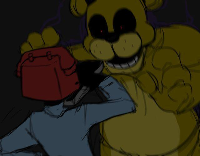 You spot Golden Freddy, what will you do?