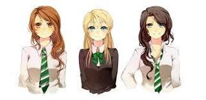 Name Sirius's 3 cousins that are sisters (just first names, spaces inbetween, no capitals, alphabetical order)