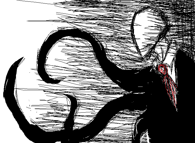 "Slenderman:(telepathically); ""So, you finally joined in. Do you have any other questions before I begin?..."" As you were still frozen you there as you could feel a pair of non-exciting deadly eyes looking at you as you could ask ""W-W-why was I B-Brought H-Here?..."" as slender again talked ""Ow, is that your Only question?"" As you got the chance to breathe you again asked something ""I-I have one m-more question, who are you guys?..."" slender: ""that's fair enough, but are you sure you want to hear your answers?.."" as you carefully nodded. Slender: ""oke, as you already know I'm slenderman, and this is Smile the dog *faces smile dog and looks back at you* we are known as Creepy-Pasta's. And we are now in the slender house, your new home"""