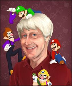 In Super Smash Bros. Brawl (Wii), while Mario gets a new voicing from Charles Martinet (the same voice actor for Luigi, Wario, and Waluigi), what was his original voicing from in Super Smash Bros. (64) and Super Smash Bros Melee (Gamecube)?