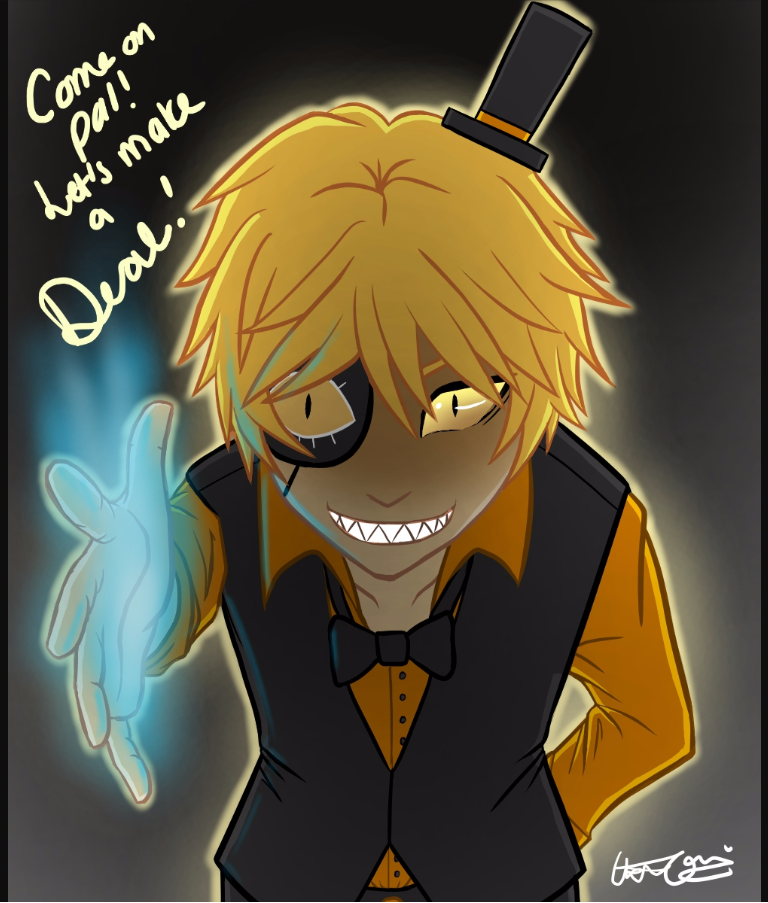 Bill Cipher: So for my question what is your opinion of me being a dream demon and all? Purple guy: *eats toast* Me:☺