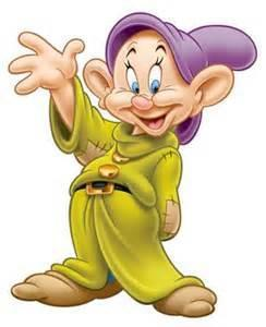 Which one of the seven dwarves war a purple hat?