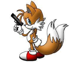 tails: hey sonic!!!! sonic: yeah what tails!?!?! tails: look what i got!!!! sonic: wait, isn't that shadow's machine gun? shadow: of course it's not you dummy. sonic: oh. tails: *flys away* shadow: this is!!! *pulls out machine gun* BWAHAHA!!!! sonic: *screams like a little girl* tails, save me!!!!