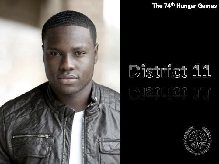 During the victory tour, in district 11, their and two people on the stand of Thresh's family. Who are these people?