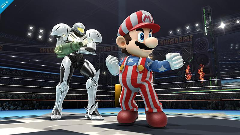 In Super Smash Bros. for 3DS and WiiU, what is Mario's 'American' palette swap a direct reference from? (From a game that is.)