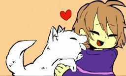 Do you like puppies? (Frisk from Undertale)