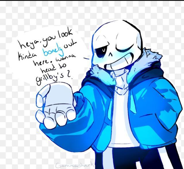 Sans asks if you want to go to Grillby's, what do you do?